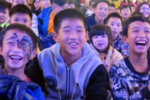 Blue Dragon Kids Laughing at Tet Awards